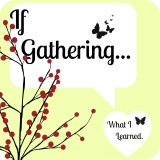 If Gathering…What ILearned.